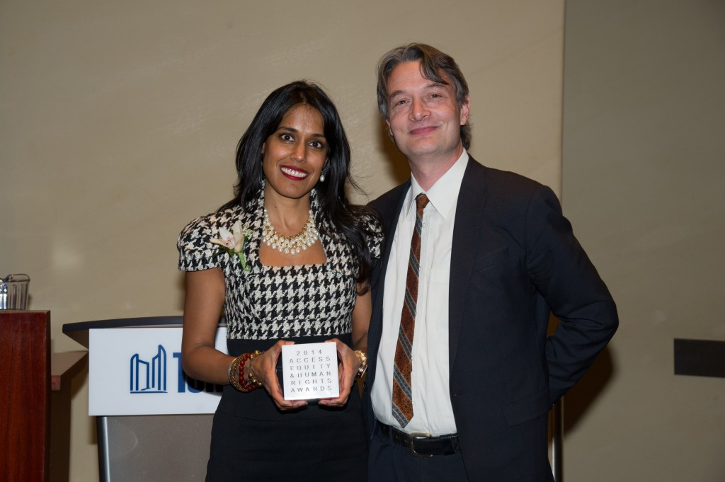 Ritu Bhasin and Councillor Gord Perks
