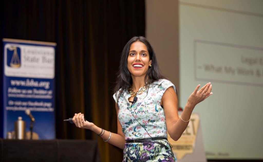 Ritu Bhasin speaks in an event