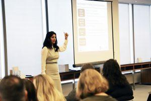 Komal Bhasin teaching a mental health workshop