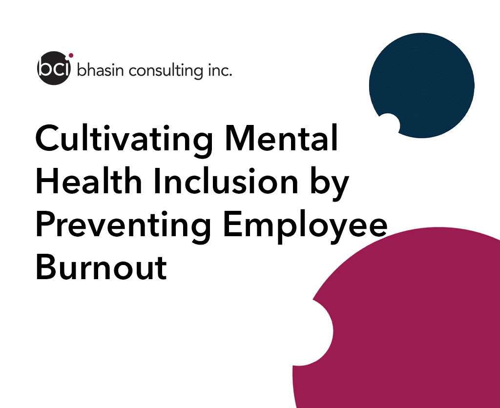 Cultivating Mental Health Inclusion by Preventing Employee Burnout