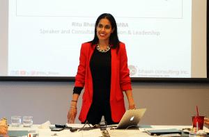 Ritu Bhasin presenting