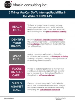 COVID-19 Anti-Racism Tip Sheet - March 2020